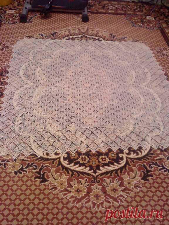 Схемы и описание вязания шали и оренбургского пухового платка спицами