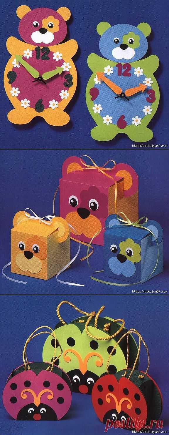 Поделки для детей из бумаги от одного года