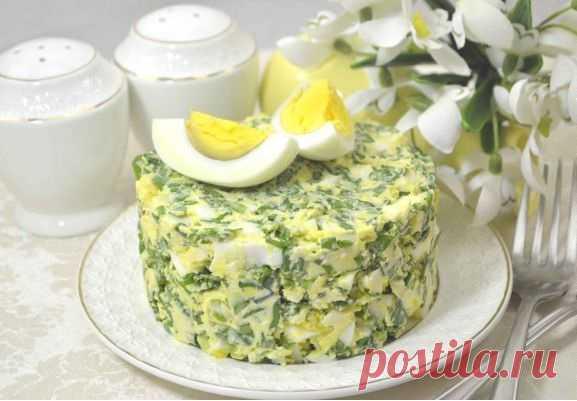 Вкусный салат из яиц, сыра и свежей зелени - замечательный рецепт - fit4girl.ru