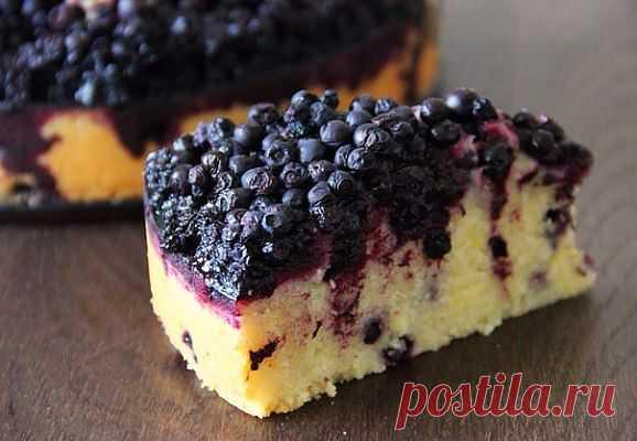 Тосканский пирог с черникой — рецепт с пошаговыми фото. Foodclub.ru