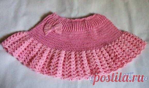 детская юбка крючком с рюшами вязание крючком постила