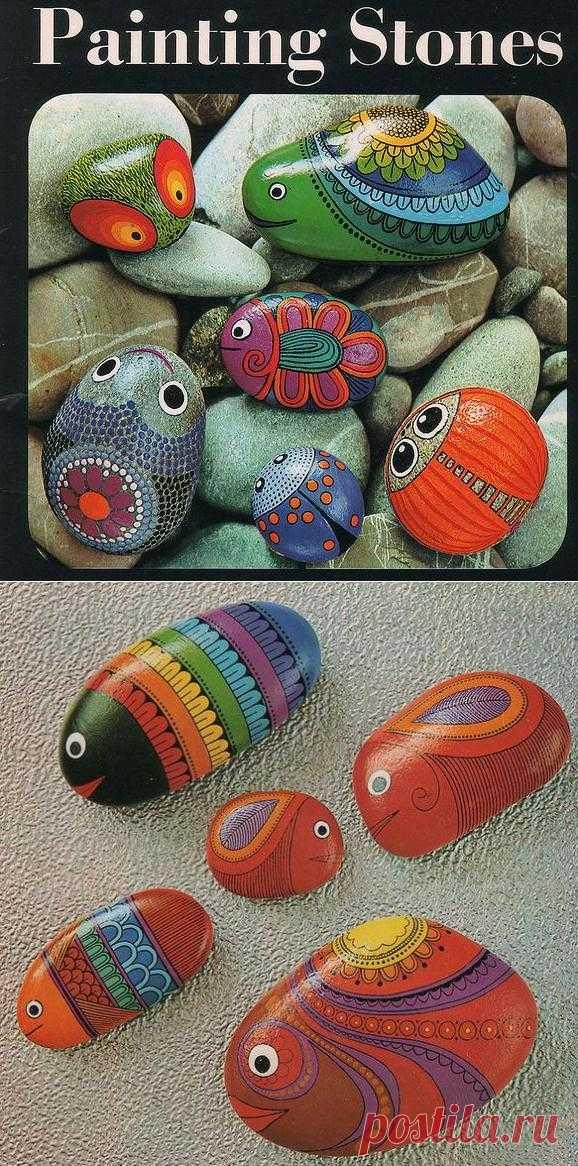 Живопись Камней Дорис Эппл. Автор, в этом буклете, показывает сколько интересных идей можно придумать разукрасив, простые морские камешки. Вы можете придумать намного больше забавного если воспользуетесь своей фантазией.