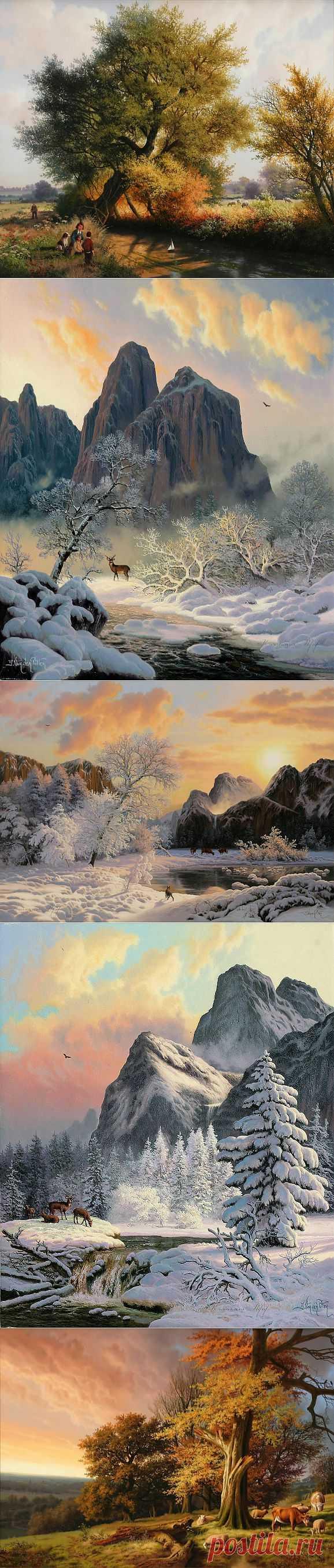 Художник пейзажей Даниэль ван дер Путтен.