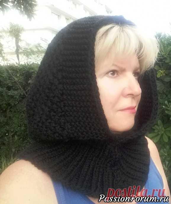 Идеальный капюшон вместо зимней шапки. - запись пользователя Мадам Лаваль (Марина) в сообществе Вязание спицами в категории Вязание спицами аксессуаров