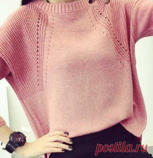 Узор Хипстер-модник-пуловер спицами .
