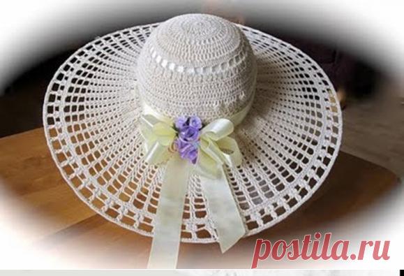 Само изящество - невесомые летние шляпки крючком | Левреткоман-оч.умелец | Яндекс Дзен