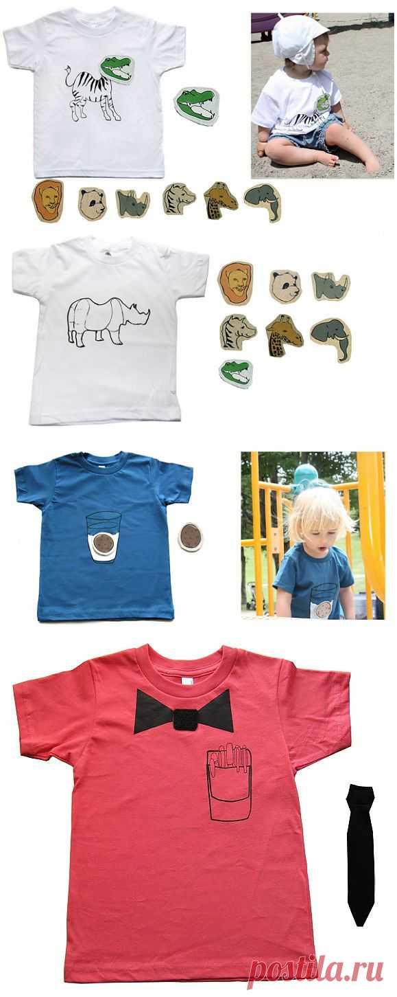 Съемный декор детских футболок / Для детей / Модный сайт о стильной переделке одежды и интерьера