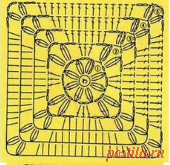 Красивый бабушкин квадрат крючком   Цветы из бумаги.   Яндекс Дзен