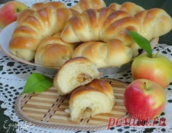 Булочки с яблоками и орехами рецепт 👌 с фото пошаговый | Едим Дома кулинарные рецепты от Юлии Высоцкой