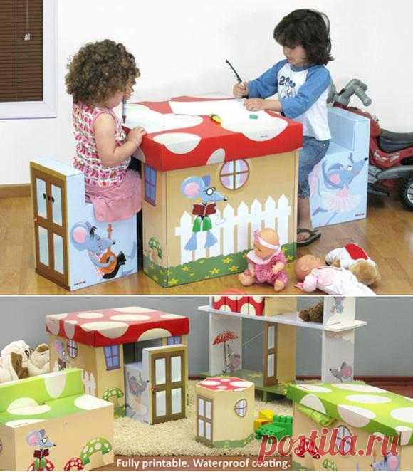 Интересная детская мебель.