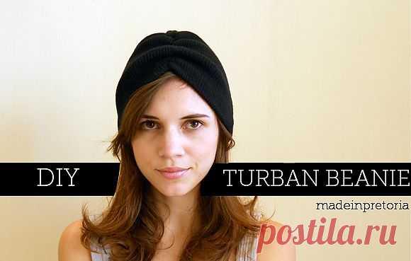 Как быстро сделать тюрбан из шапки: / Головные уборы / Модный сайт о стильной переделке одежды и интерьера