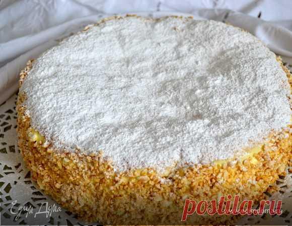 """La torta """"Дипломатичный"""" (Torta Diplomatica). Los ingredientes: testo hojaldrado, el bizcocho, el tormento   el Sitio oficial de las recetas de cocina de Julia Vysotsky"""