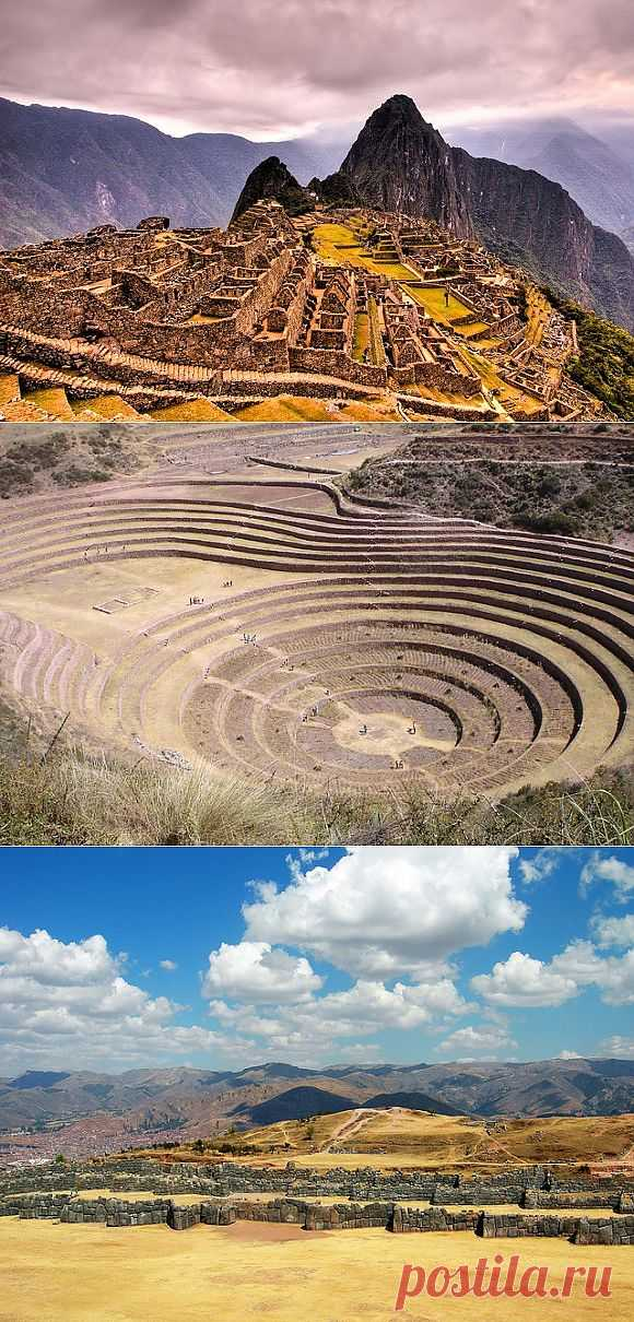 Well-known ruins of Inca \/ Tourist satellite