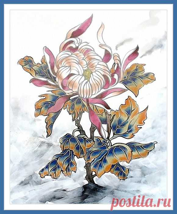 Хризантема. Цветок в две кисти. Видео-Уроки..
