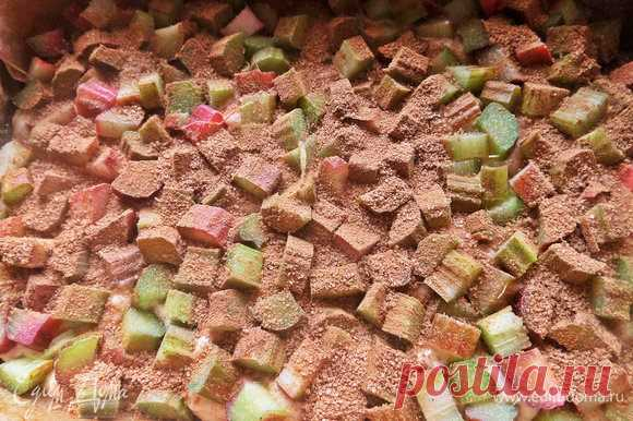 Пирог с ревенем (на кефире). Ингредиенты: яйца куриные, простокваша, сахар
