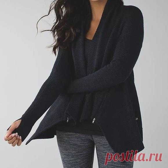 LULULEMON Wrap It Up Sweater Wool Black Elbow Patch Snap Front Jacket sz.4-6  | eBay Wrap it up, wrap it in, let Savasana begin! •be gentle hand wash in cold water and lay flat to dry. Auctiva's FREE Counter. •stash your essentials in the two zipper pockets. Bust: approx. 18.5