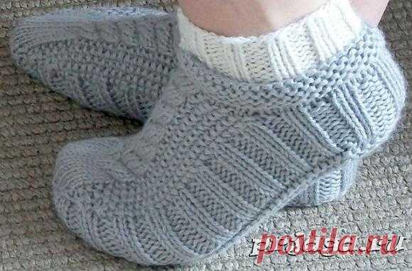 Носочки – следочки спицами