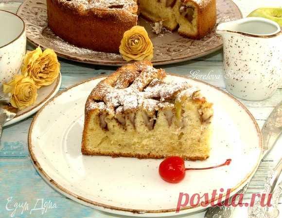 Яблочный пирог c корицей. Ингредиенты: сливочное масло, яйца куриные, сахар