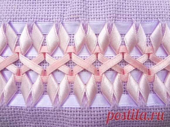 Изумительной красоты вышивка лентами: идеи