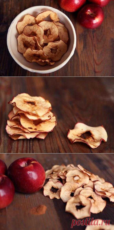 Готовим яблочные чипсы с корицей