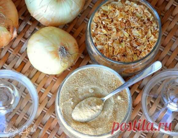 Карамелизированный сушеный лук. Ингредиенты: лук репчатый