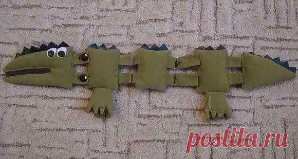 Крокодил - интересная игрушка-развивалка