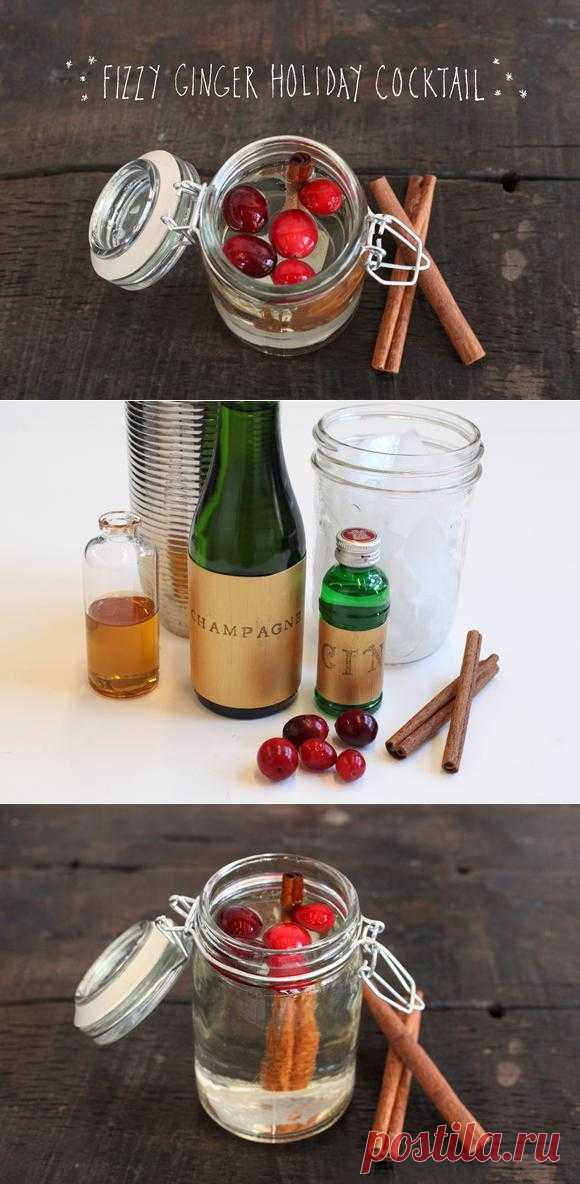 cranberry cocktail with cinnamon