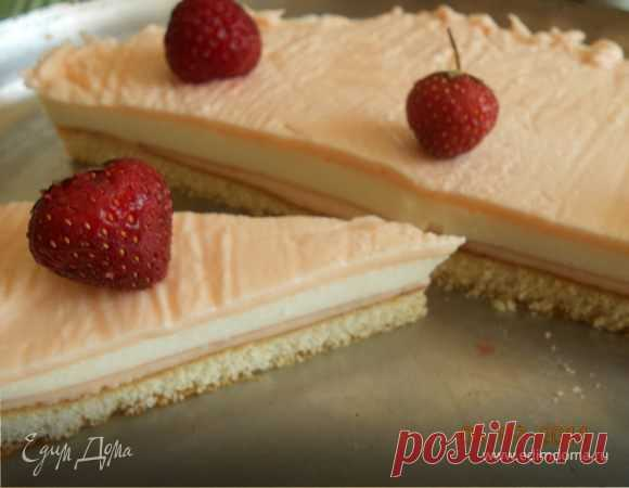 Очень легкий тортик (чизкейк без выпечки). Ингредиенты: творог, сметана, сахар
