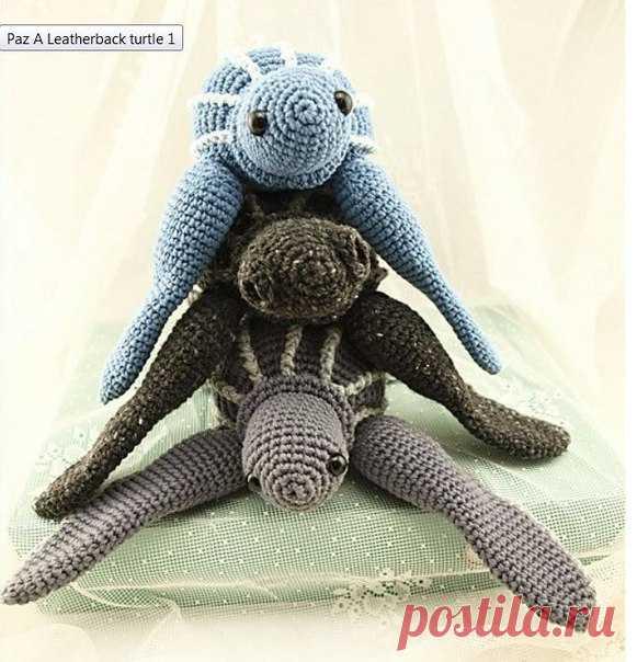Черепашки #амигуруми #схема #описание #игрушка #черепаха