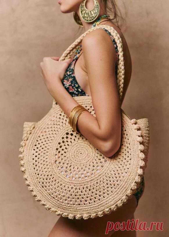 Вязаные сумки из рафии. Вдохновение от бренда Sezane | WarmEngineer | Яндекс Дзен