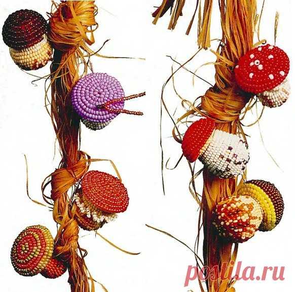 Грибы в бисере Овощи, фрукты, ягоды из бисера – Бисерок Разные грибочки из бисера. Отличные сувениры и поделки сделанные своими руками.