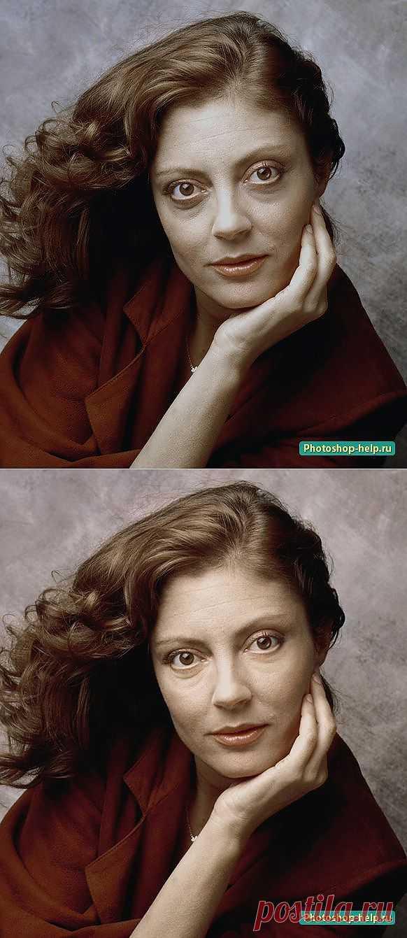 Как убрать синяки в Фотошоп. Подробный урок » Уроки фотошопа - Все для Adobe Photoshop / Photoshop-help.ru