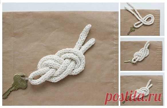 Плетеный брелок для ключей / Аксессуары (не украшения) / Модный сайт о стильной переделке одежды и интерьера