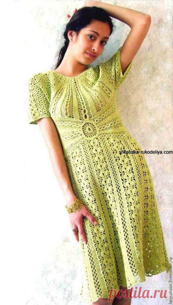 Женское платье крючком 2020. Схемы вязания летнего платья крючком   Шкатулка рукоделия. Сайт для рукодельниц.