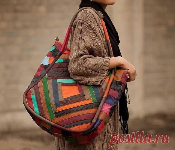 Кожаный печворк / Пэчворк / Модный сайт о стильной переделке одежды и интерьера