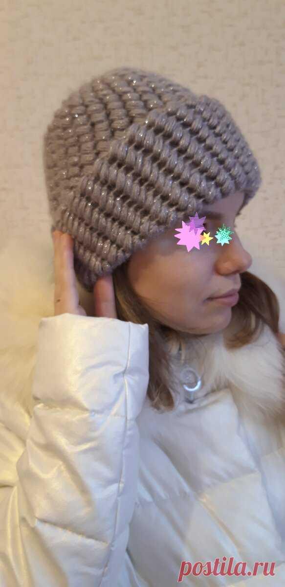 Подписчице не понравилась моя зимняя шапка и она связала и отправила для меня новую. Показываю свою обновку   Маринка с картинки   Яндекс Дзен