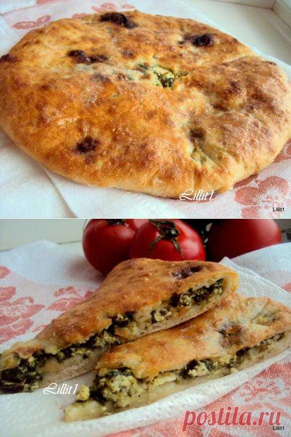 Осетинский пирог с сыром и зеленью   Территория Вкуса