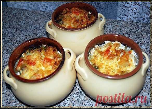 Молодой картофель с мясом в горшочках   Лучшие кулинарные рецепты