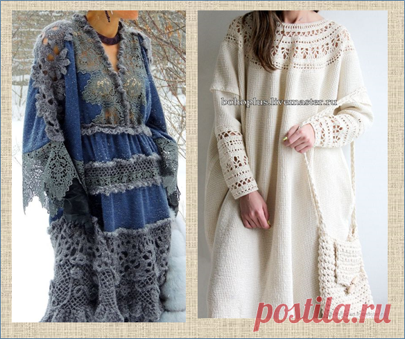 Ах, какие платья! - снова вязание с тканью - 20 моделей для вашей осени | МНЕ ИНТЕРЕСНО | Яндекс Дзен