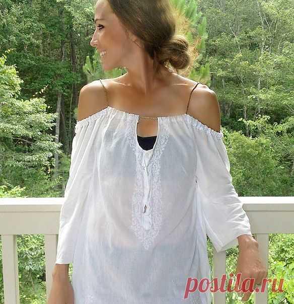 Идея в жару: блузка на цепочке!