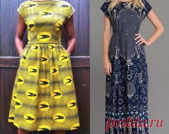 Выкройка модного платья — Копилка советов