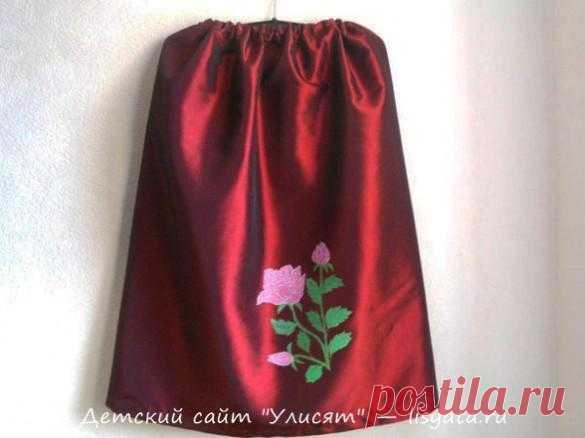 Украшаем детскую юбку росписью