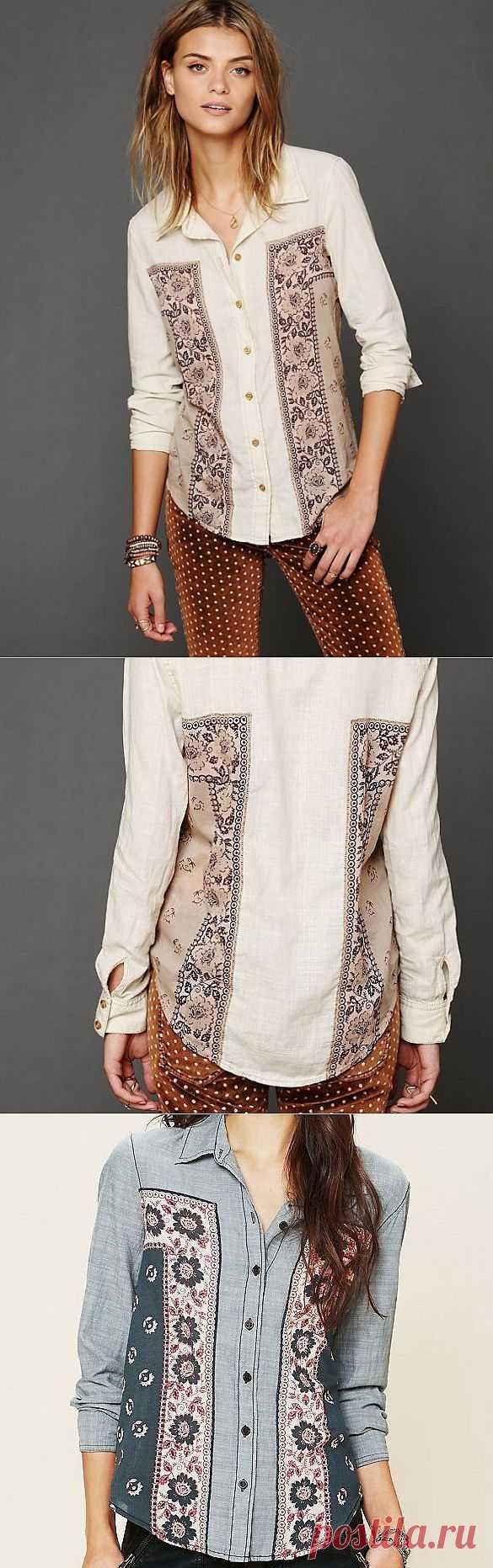 Рубашка+платок / Рубашки / Модный сайт о стильной переделке одежды и интерьера