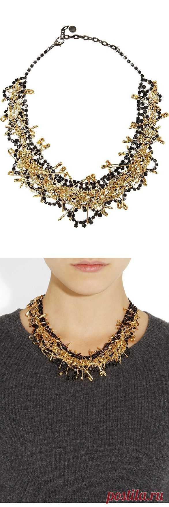 Колье из золотых булавок / Ювелирные украшения / Модный сайт о стильной переделке одежды и интерьера