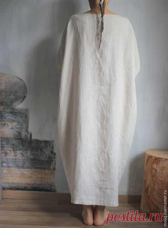Льняное платье. дизайнерское Boho style.100% Лен.Балахон – купить в интернет-магазине на Ярмарке Мастеров с доставкой - CXHYJRU | Москва