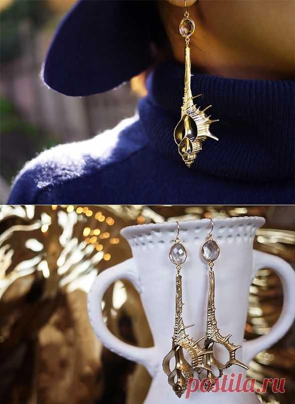 Золотые ракушки (мастер-класс) / Украшения и бижутерия / Модный сайт о стильной переделке одежды и интерьера