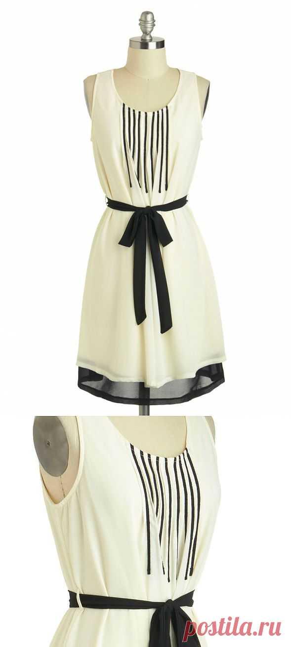 Платье с ретро-декором / Платья Diy / Модный сайт о стильной переделке одежды и интерьера