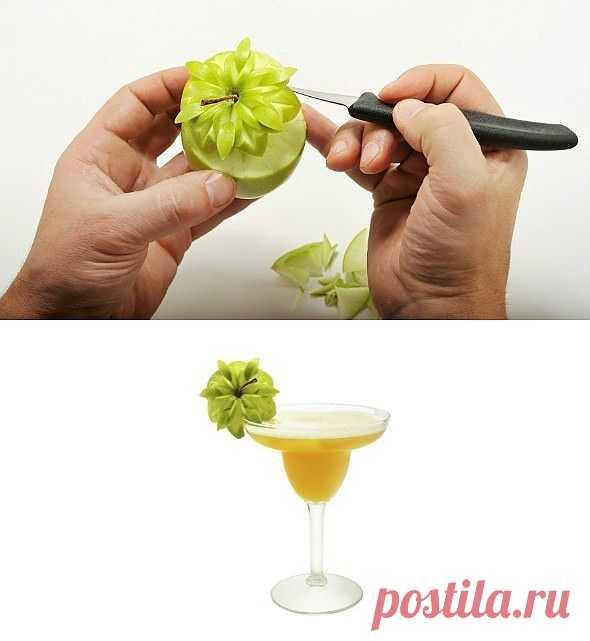 Карвинг: цветок из яблока (Diy) / Рецепты / ВТОРАЯ УЛИЦА