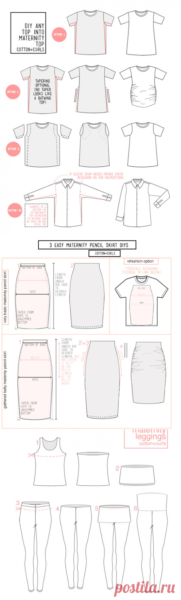 Идеи одежды для беременных своими руками - футболки для беременных - запись пользователя Женьшень (kokolama) в сообществе Шитье в категории Новая жизнь старых вещей - Babyblog.ru