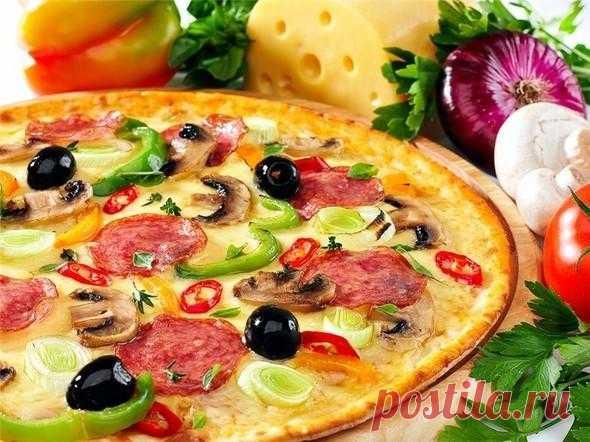 Пицца на сковороде за 10 минут!!! Когда нежданно нагрянули гости! — Планета и человек